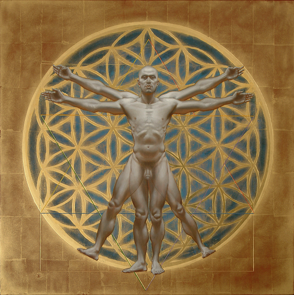 """Vitruvian Man"" by Artist David Hewson"