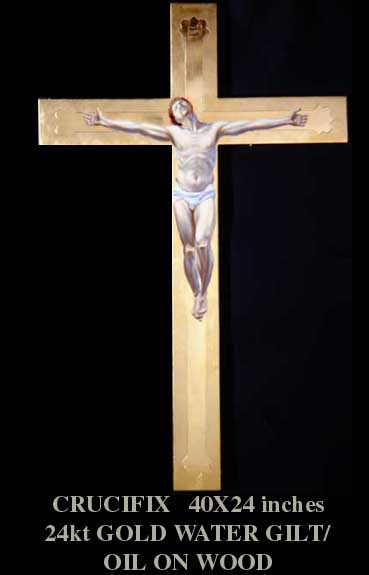 Crucifix by artist David Hewson