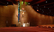 "Wide View of ""Crucifix at St. Anthony's"" by artist David Hewson"