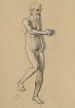 St. John figure study (graphite on paper) by artist Dave Hewson