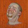 color sketch by artist Dave Hewson - head study for St. Martin scene (Thomas) oil on wood