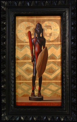 """African Warrior"" Still Life by Artist David Hewson"