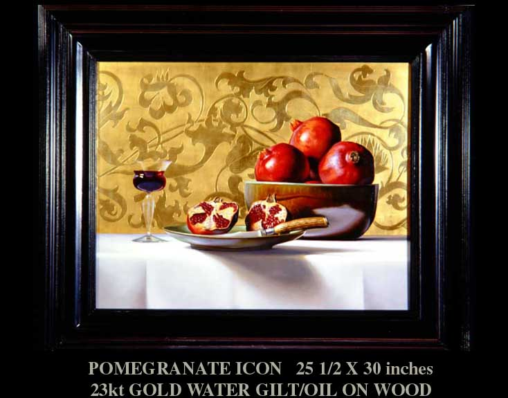 """Pomegranate Icon"" Still Life by artist David Hewson"